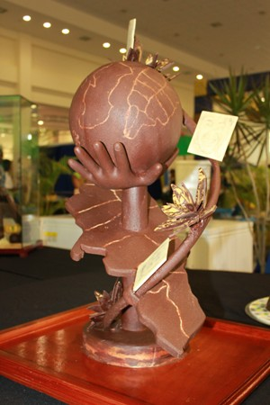Chocolate Showpiece Competition - Silver Award for Couples Tower Isle